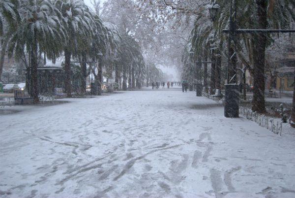Fotos de la nieve en Linares en 2010