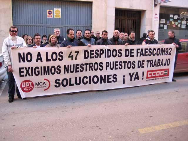 Los trabajadores de Faescom 92 S.L. prosiguen con sus protestas