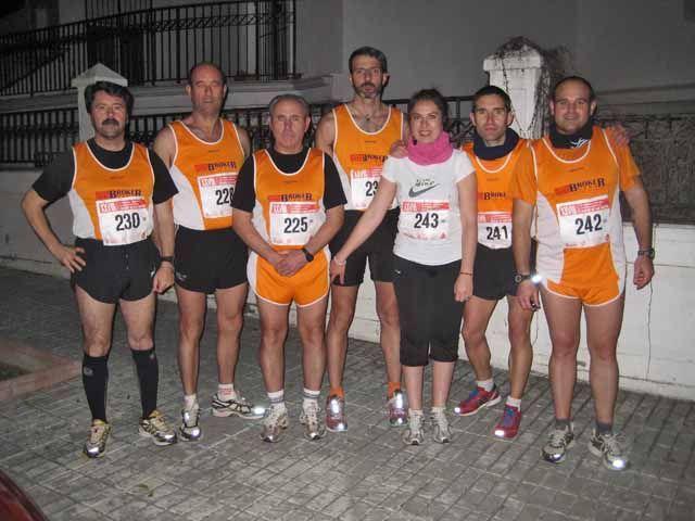 Atletas del Club de Fondo La Cabria en la carrera de San Antón de Jaén