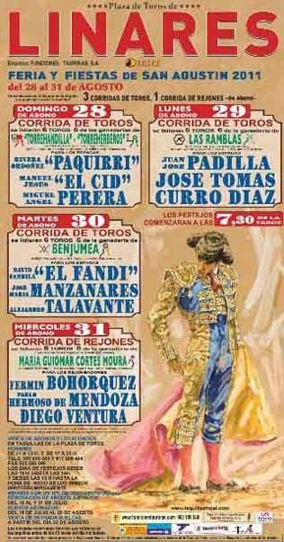 Curro Díaz y José Tomas el 29 de agosto en Santa Margarita