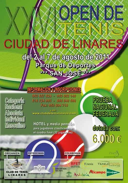 """El XXVI Open de Tenis """"Ciudad de Linares"""" calienta motores"""