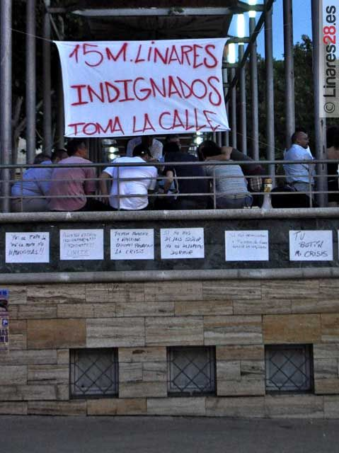 El movimiento del 15M en Linares