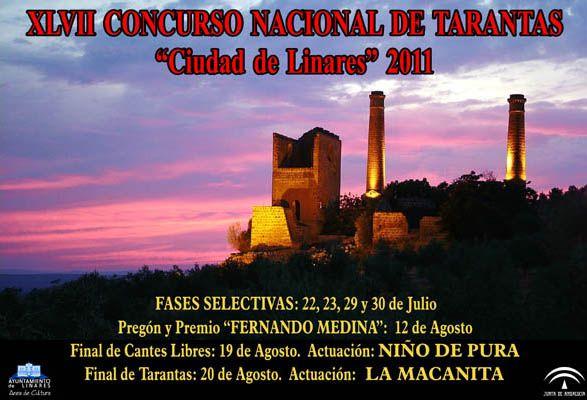 Cartel del XLVII Concurso Nacional de Tarantas de Linares