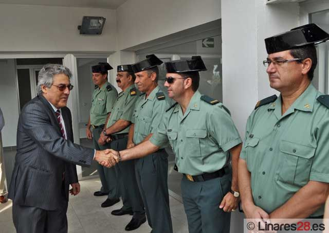 Justo Zambrana visitó las obras del nuevo acuartelamiento de la Guardia Civil de Linares
