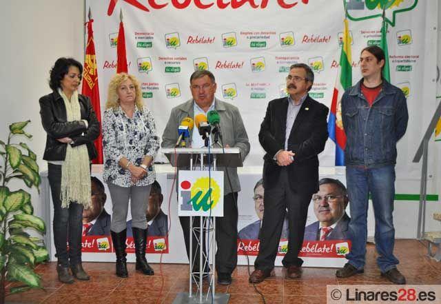Izquierda Unida presenta en Linares su próxima campaña electoral