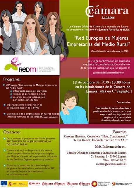 Mujeres empresarias del medio rural en la Cámara de Comercio de Linares