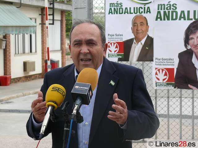 El Partido Andalucista presenta su programa económico en Linares y arremete contra las televisiones públicas
