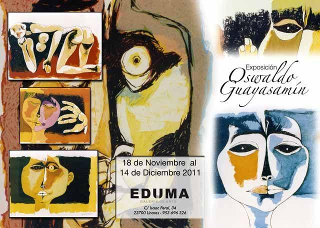 Exposición del reconocido pintor ecuatoriano Oswaldo Guayasamín en la Galería de Arte Eduma