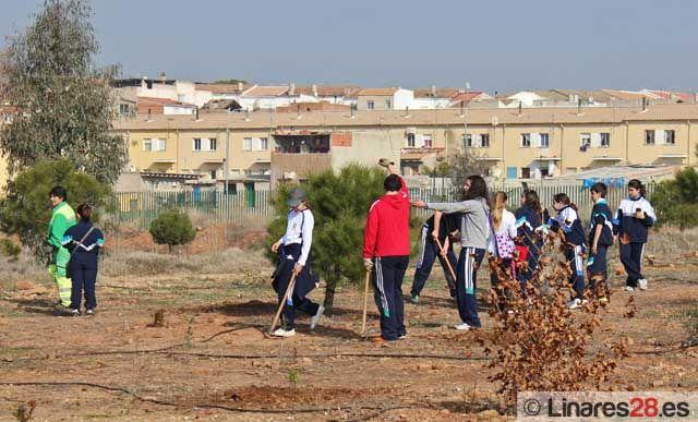 Los niños reforestan Cantarranas