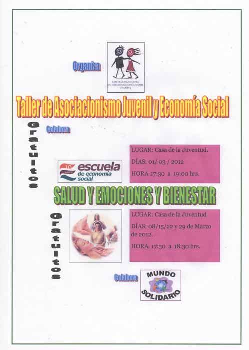Talleres gratuitos de Asociacionismo Juvenil y Economía Social
