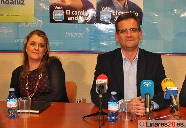Basagoiti pide el voto de los linarenses para el PP