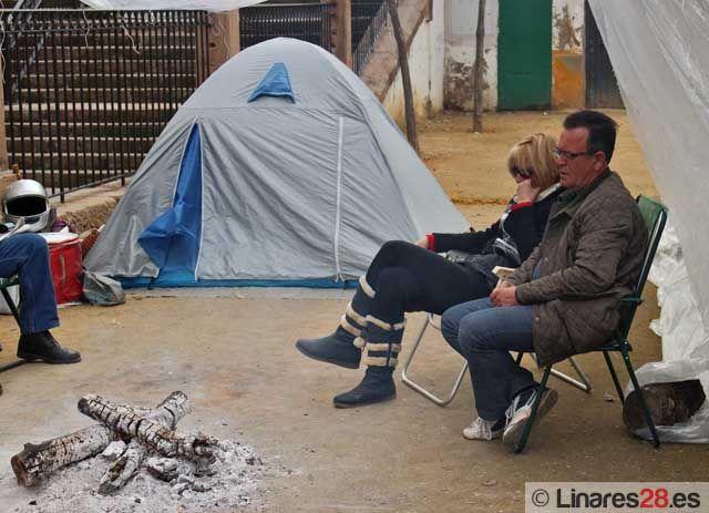Desalojan a los extrabajadores de Liserman acampados en Santa Margarita