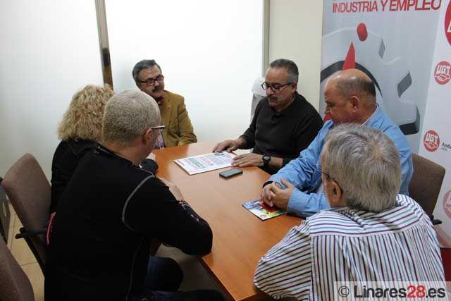 IU, CCOO y UGT concretan en Linares puntos de colaboración ante los recortes