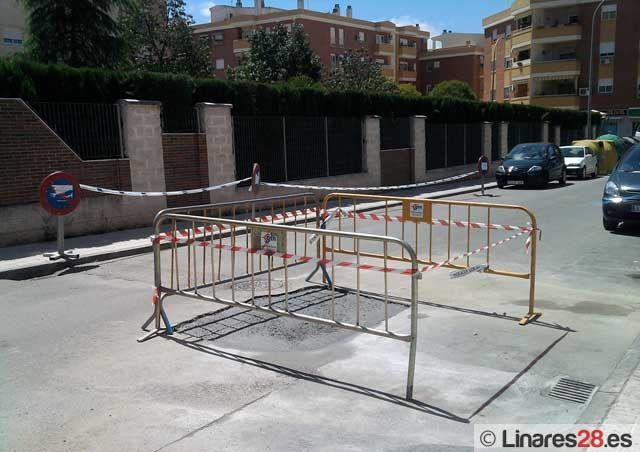 Hundimiento en la calle Portugal