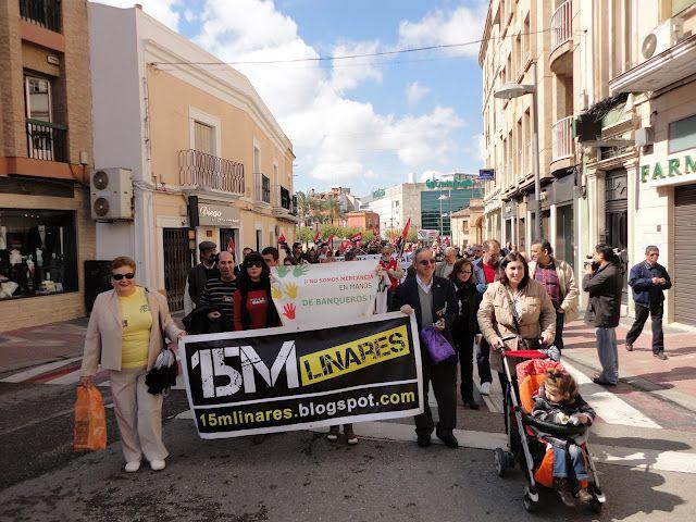 CGT y Movimiento 15M de Linares celebraron el 1º de mayo