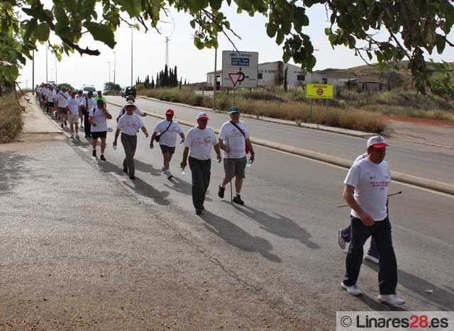 Los exsantaneros completan la primera etapa de la marcha hasta Sevilla