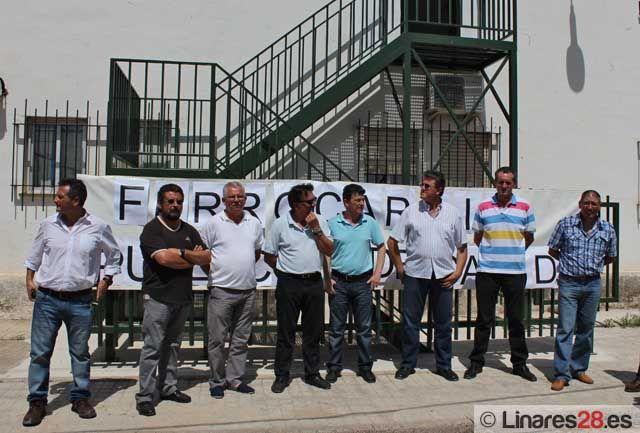 Encierro del Comité de Empresa de ADIF-Jaén en Linares-Baeza
