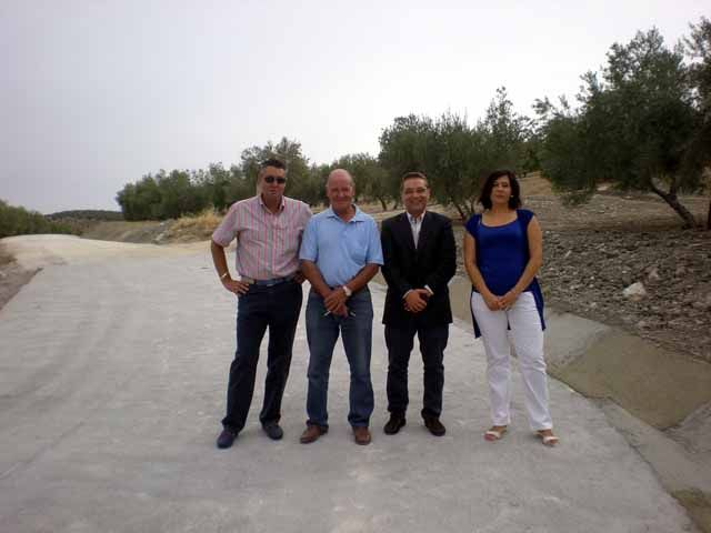 Concluye en Higuera de Calatrava una de las obras incluidas en el Plan de Caminos Rurales impulsado por la Diputación