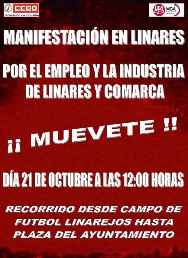 FACUA apoya la manifestación de mañana en Linares
