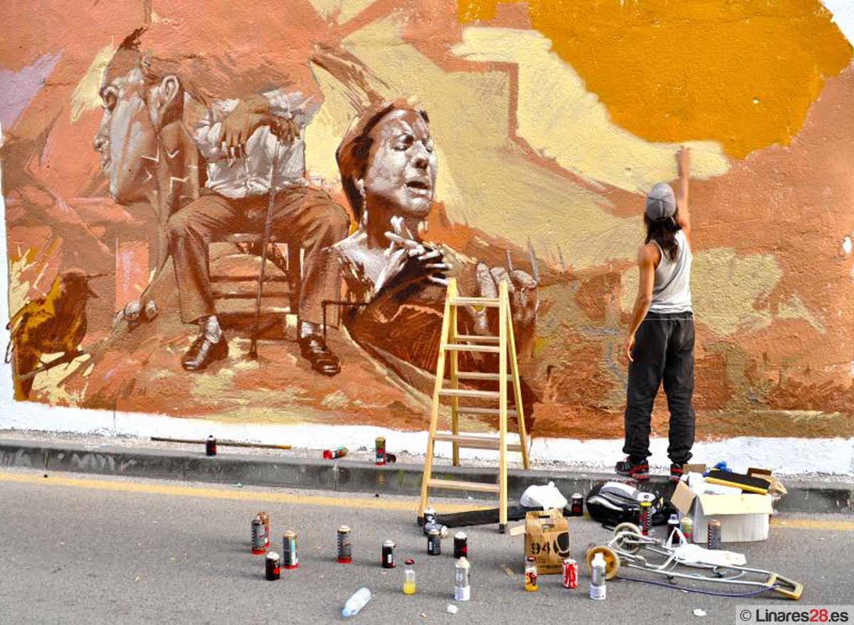 Linares acoge desde hoy la final del Certamen Joven de Graffiti