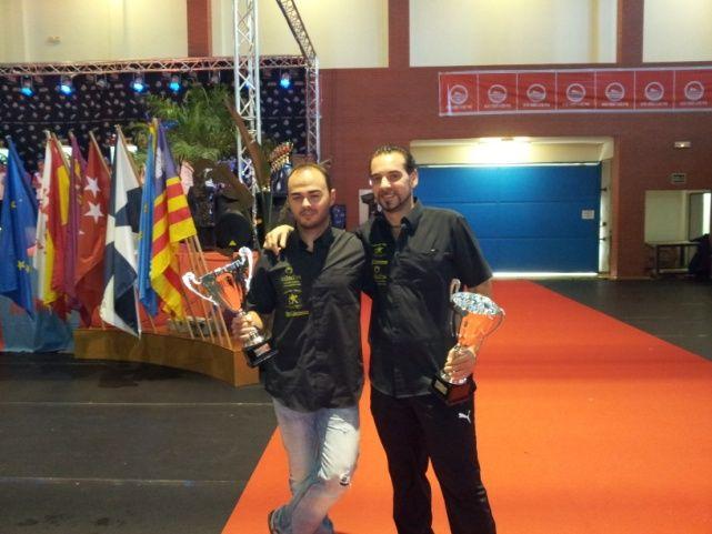 Los linarenses Rafael Merino y Jesús Muñoz, Campeones de España en dardos