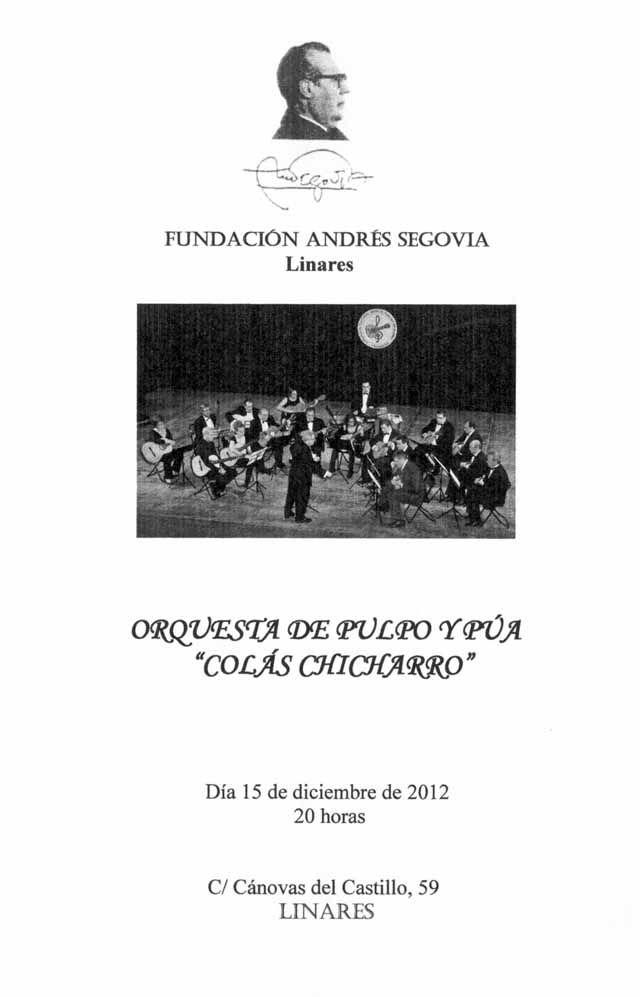 """Concierto orquesta de pulso y púa """"Colás Chicharro"""""""