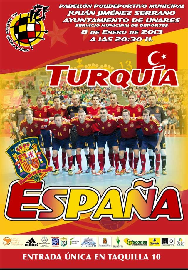 La selección española de fútbol sala jugará en Linares