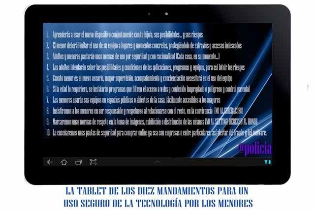 """La """"tablet"""" con los 10 mandamientos para un uso seguro de los gadgets que han regalado los Reyes Magos a los menores españoles"""