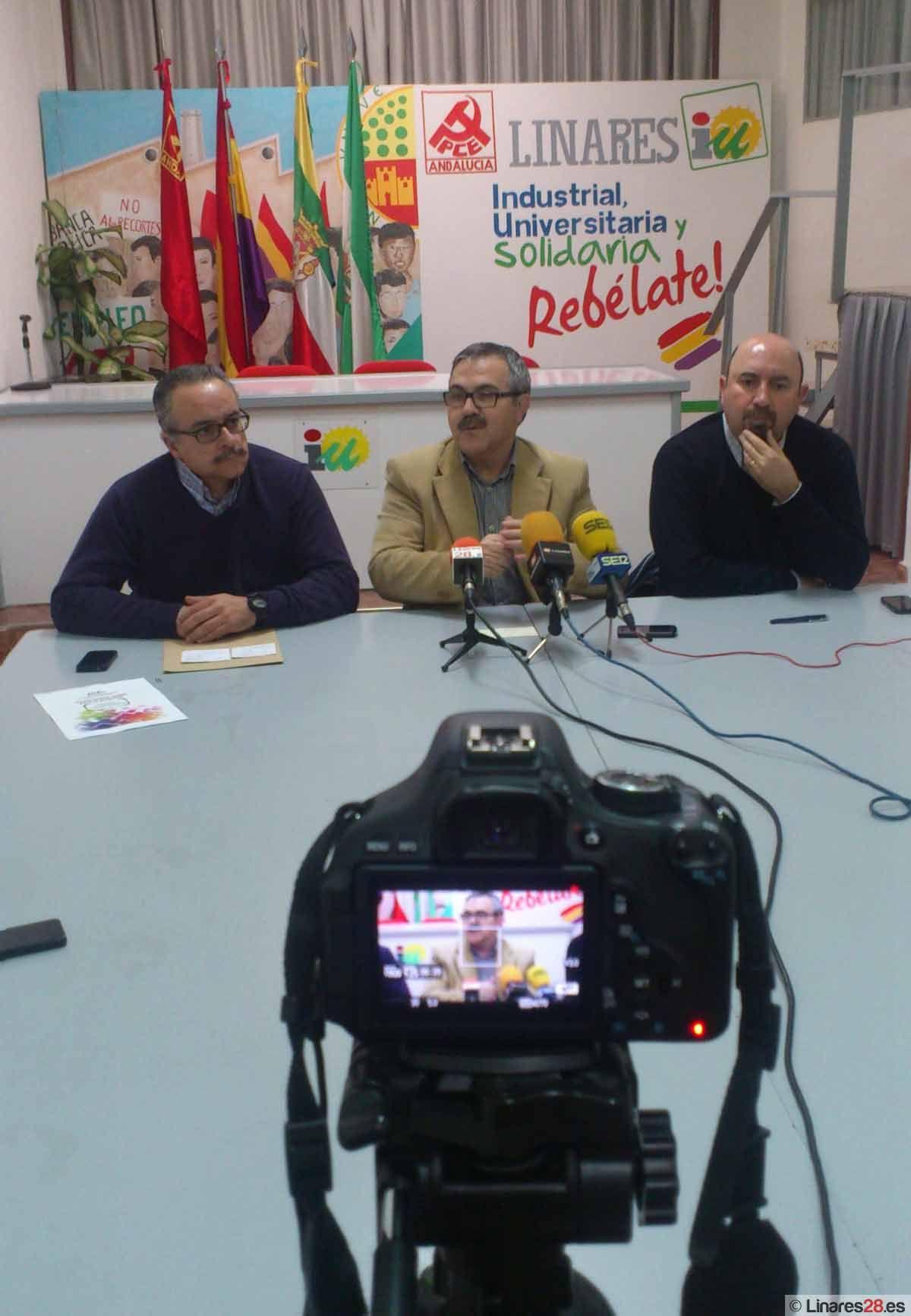 IU, CC.OO y UGT presentan conjuntamente la manifestación del próximo 28-F