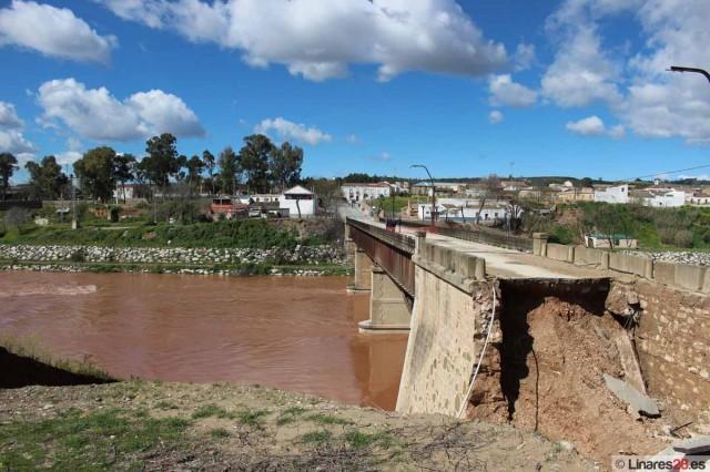 Rotura de puente en Linares-Baeza