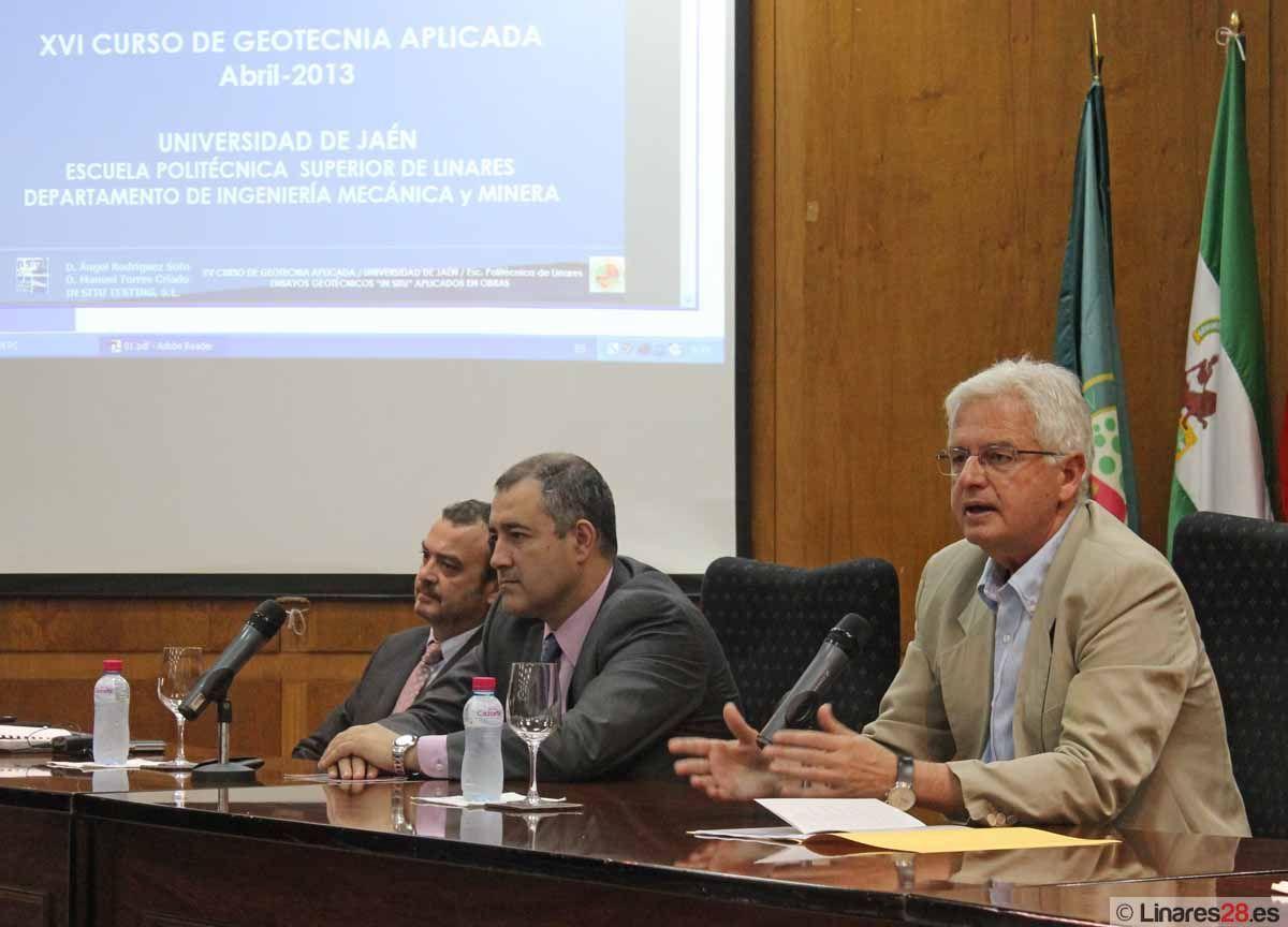 La Escuela Politécnica Superior de Linares inaugura el XVI Curso de Geotecnia aplicada