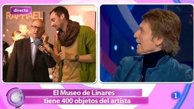 """El programa """"+Gente"""" de TVE entevistó al cantante linarense Raphael"""