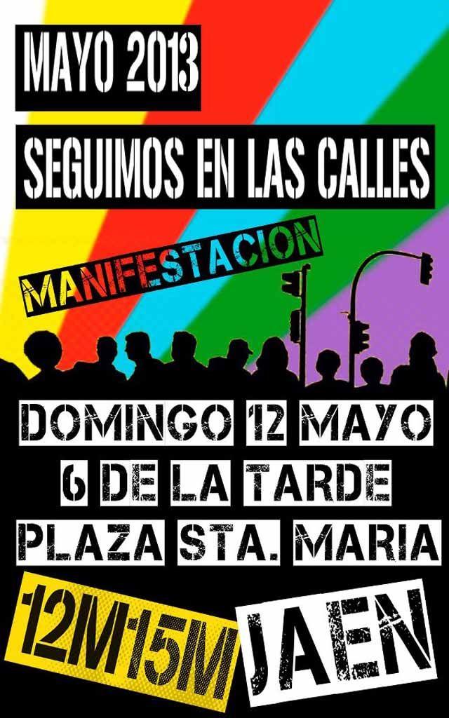 15M Linares convoca a la sociedad para la manifestación del 12M en Jaén