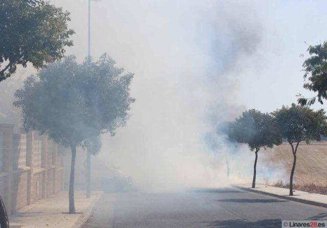 Incendio en la en la calle Jose Antonio Godoy del Moral en septiembre de 2012