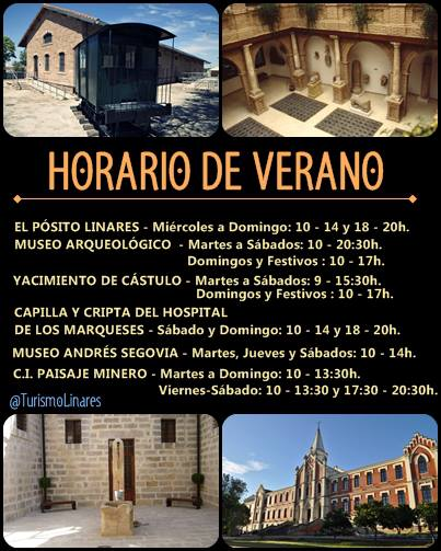 Los museos de Linares cambian al horario de Verano