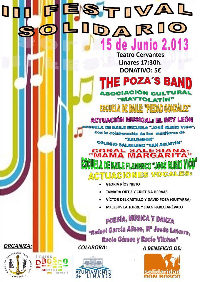 """III Festival Solidario a beneficio de """"Solidaridad Don Bosco"""""""