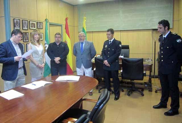 Toma de posesión como nuevos oficiales de dos Policías Locales