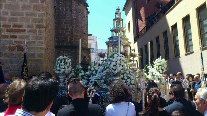 En estos momentos, día de Corpus en Linares