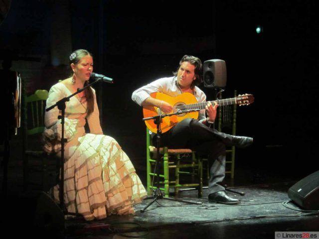 Momento de la velada flamenca