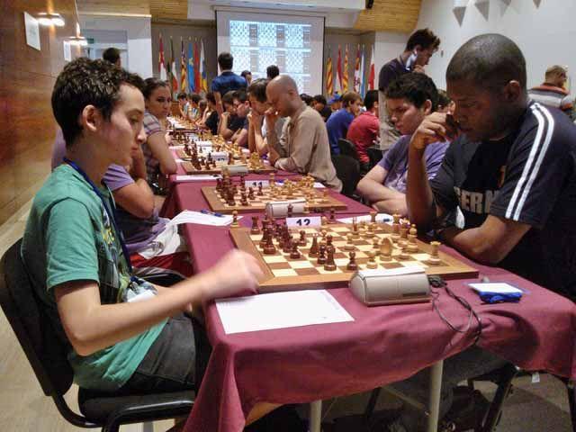 Miguel Santos, de 13 años, entre los líderes