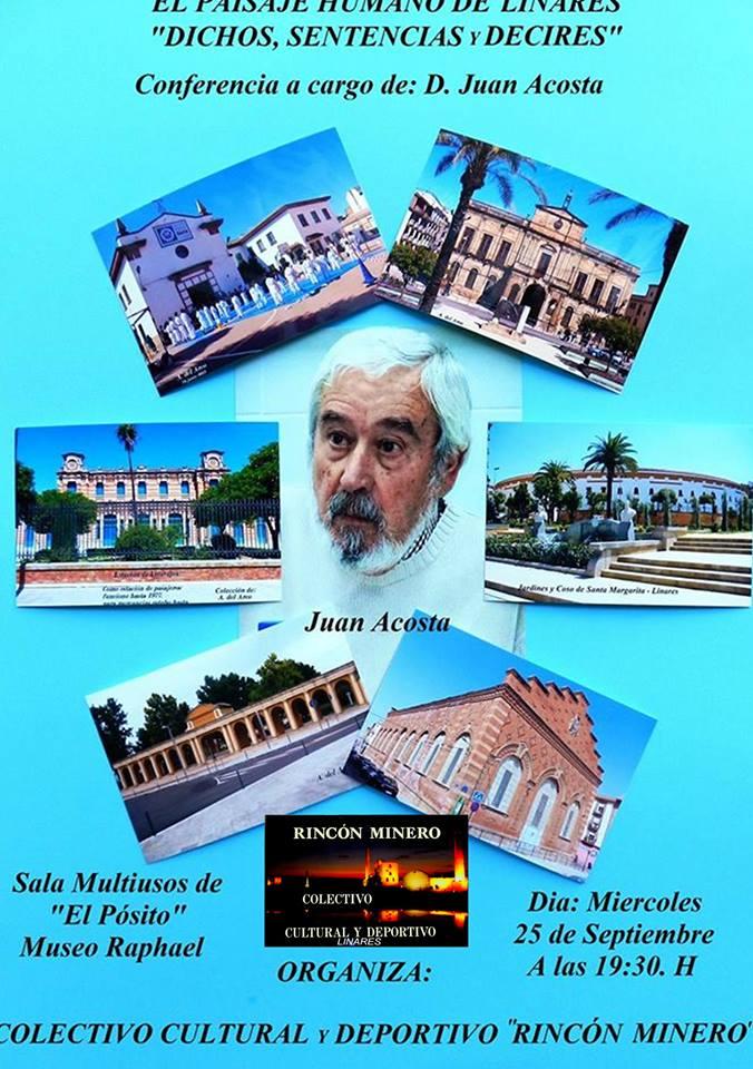 """Conferencia sobre el """"Paisaje Humano de Linares"""""""