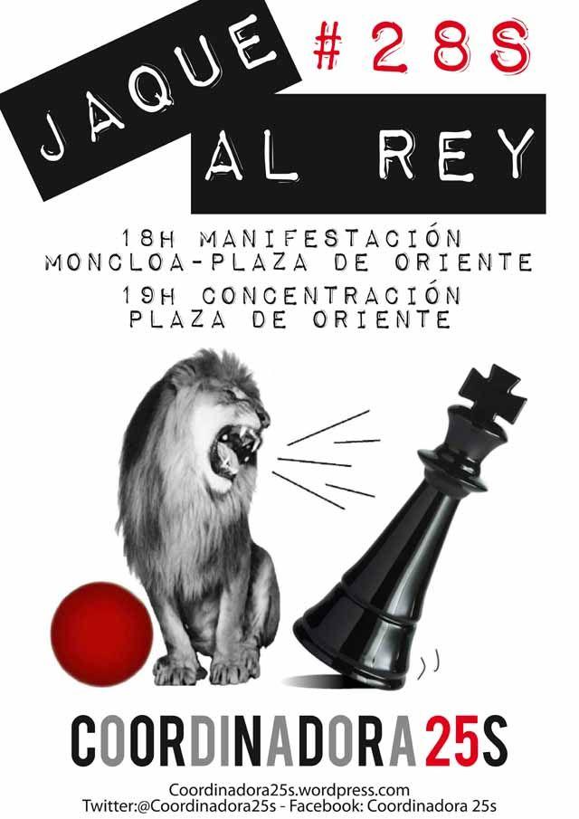 El 28 de septiembre damos un #JaquealRey