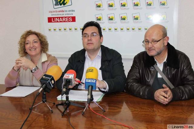 Concejales del grupo político de IU en el Ayuntamiento de Linares