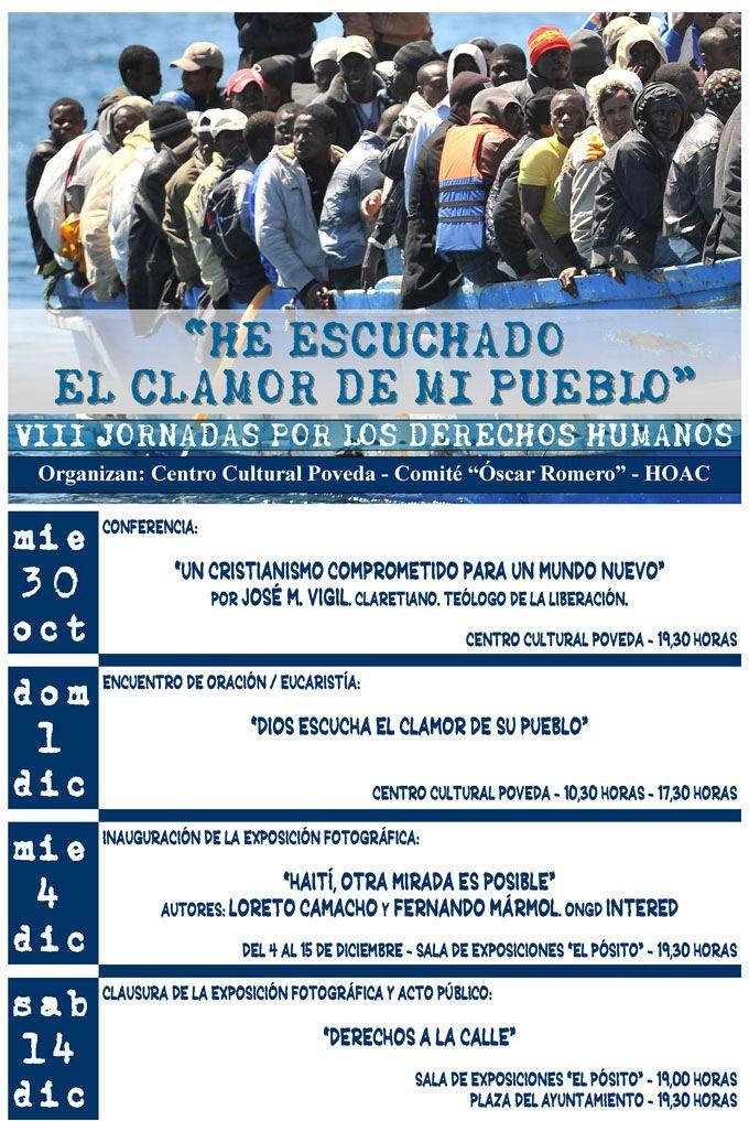 Hoy comienzan las VIII Jornadas por los Derechos Humanos