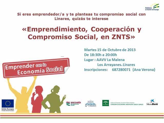 La Escuela de Economía Social presenta en Linares su programa de dinamización en Emprendimiento Colectivo