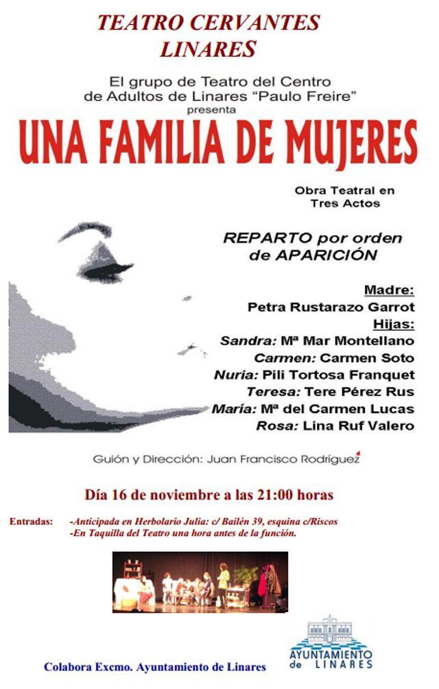 """Representación de la obra """"Una familia de mujeres"""""""