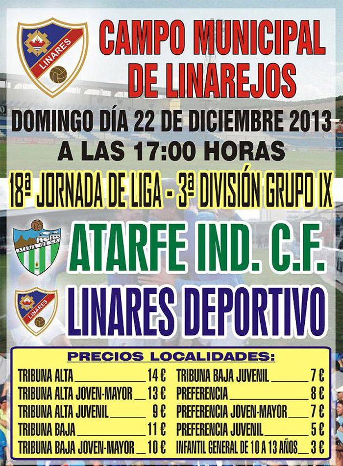 El Linares Deportivo juega hoy contra el Atarfe Ind. C.F.