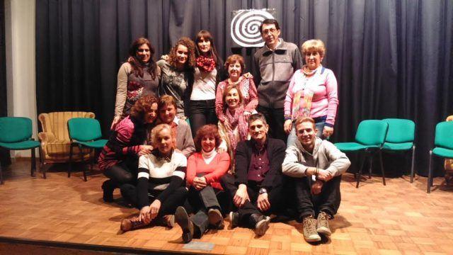 Con el grupo de teatro linarense