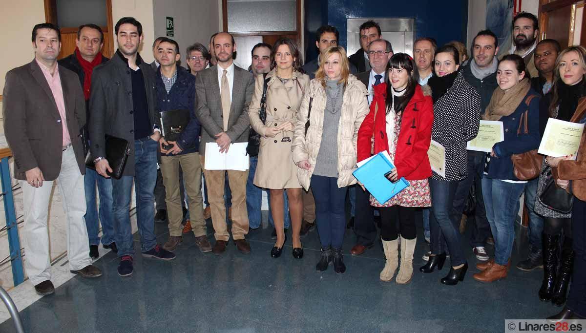 34 nuevos autónomos de Linares reciben incentivos de la Junta por iniciar su actividad empresarial