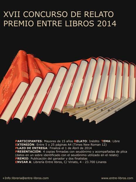 """XVII CONCURSO DE RELATO """"PREMIO ENTRE LIBROS 2014"""""""